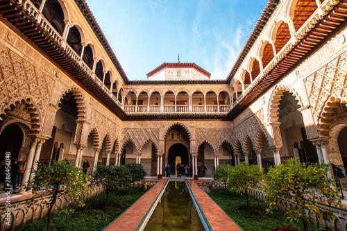 Leinwand Poster Real Alcázar de Sevilla