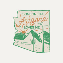 Vintage Arizona Badge. Retro S...