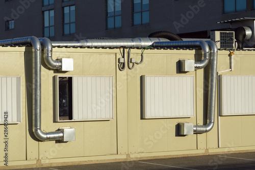 Photo Sistema de aire acondicionado en unas casas prefabricadas