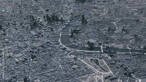 Fotografía  London city map. 3d map of London