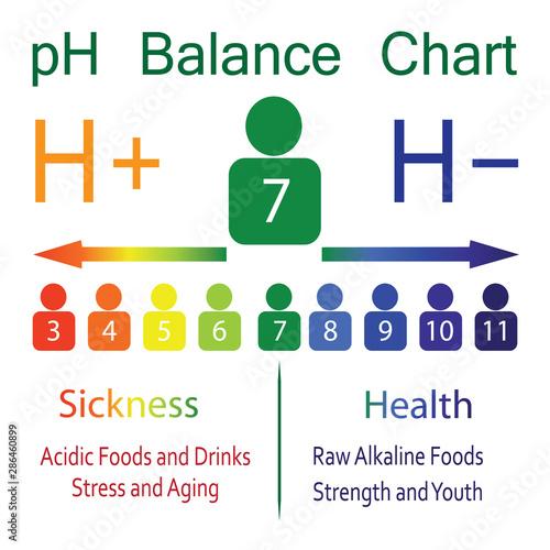 pH level Ballance Chart Canvas Print
