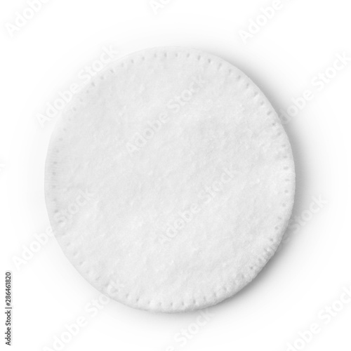 Photo One round cotton cosmetic pad on white
