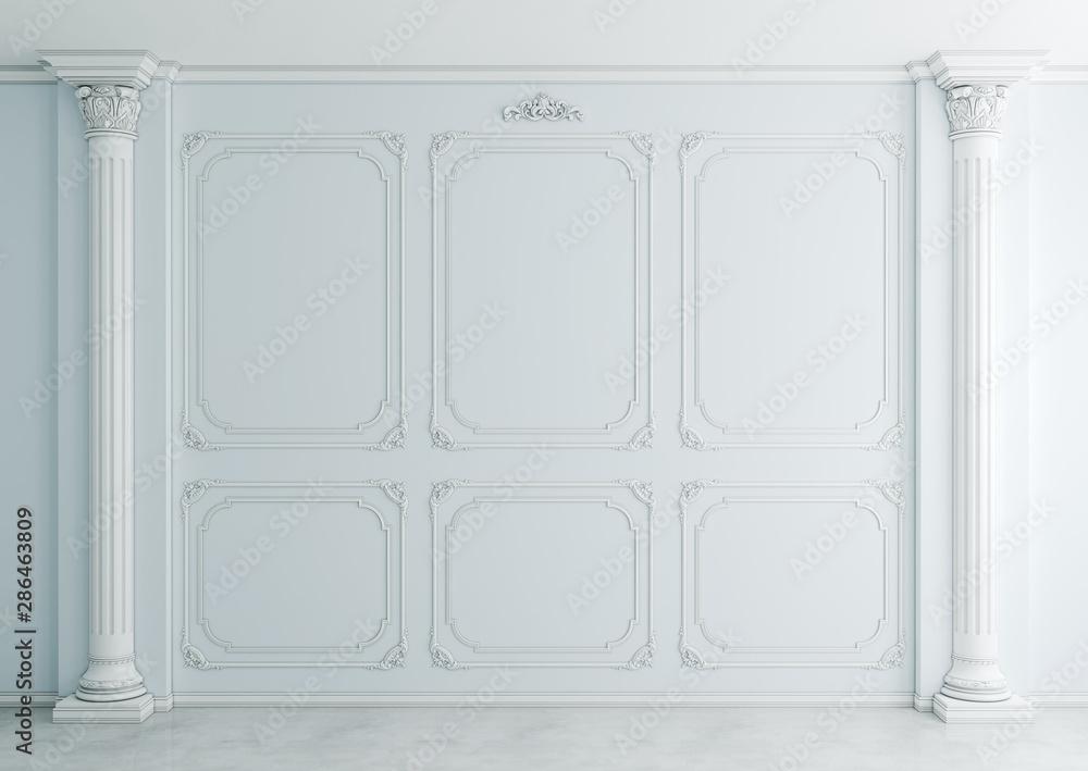 Fototapeta Interior in classical style (3d rendering)