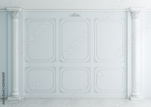 Photographie  Interior in classical style (3d rendering)