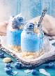 Leinwanddruck Bild - Blue spirulina chia pudding