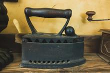 Old Heavy Cast Iron Ironing