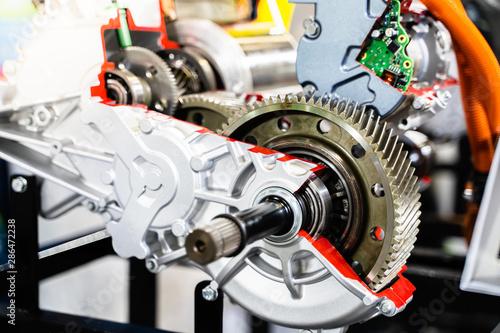 Obraz na plátně  Engine sprocket And electronic circuit boards for control