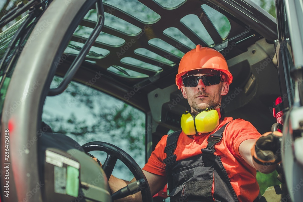 Fototapety, obrazy: Construction Machine Operator