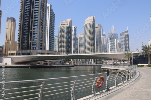 Marina à Dubaï, Émirats arabes unis Fototapet
