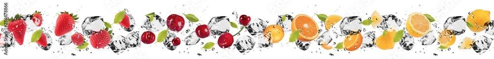 Fototapeta Fruit in ice