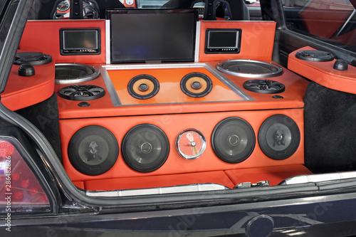 car powerful stereo audio system custom Canvas Print
