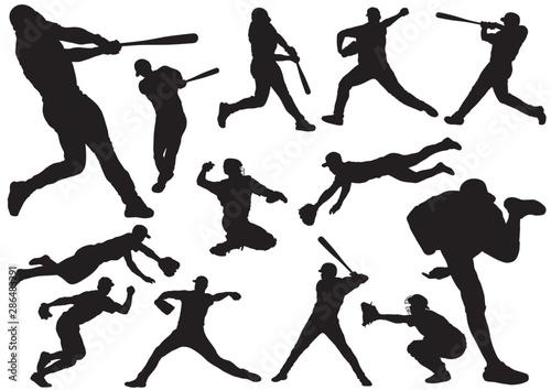 Fényképezés 野球 シルエットイラストセット