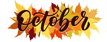 October, Vector Script With De...