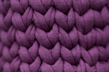 Knitted Fabric With A Beautiful Texture