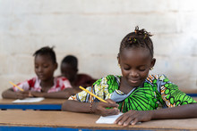 Intelligence For African Children, Rural Classroom With Pupils