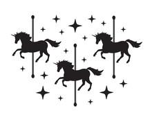 Vector Black Unicorn Carousel ...