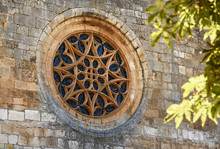 Gothic Rose Window Of Covarrubias Collegiate
