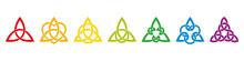 Seven Rainbow Colored Celtic T...
