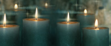 Candle Lights With Reflection