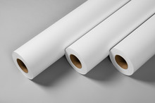 Blank White Paper Rolls Isolat...