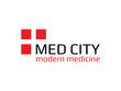 Logo medicine city template design vector