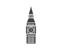 Big Ben Building Landmark Icon...