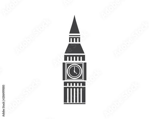Canvas-taulu Big ben building landmark icon vector