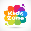Kids icon chuild sign template game concept