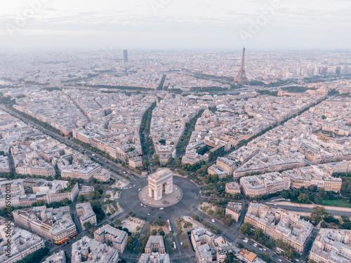 Valokuva Aerial of the Arc de Triomphe in Paris, France
