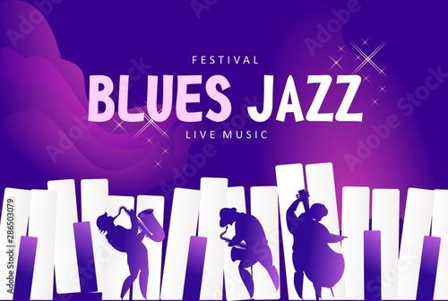 Photo Blues jazz banner