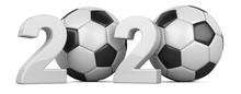 Soccer Ball With 2020 Inscript...
