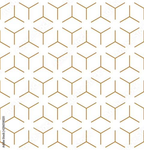 Foto auf Leinwand Künstlich Vector seamless geometric pattern. Gold linear pattern. Wallpapers for your design.