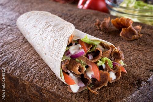 Doner Donair Kebab Wrap - 286515225