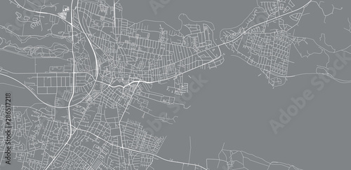 Urban vector city map of Horsen, Denmark Wallpaper Mural
