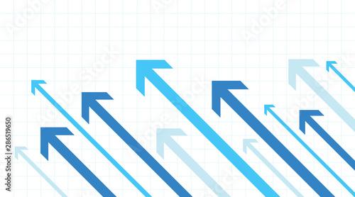 Obraz Arrows going up. Growth success. White background - fototapety do salonu