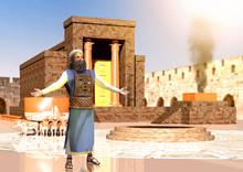 Biblical Jewish Priest Standin...