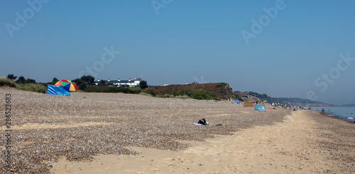 The Beach in Summer at Dunwich Wallpaper Mural