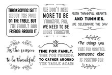 Calligraphy Sayings For Print. Vector Quotes About Happy Thanksgiving Day.