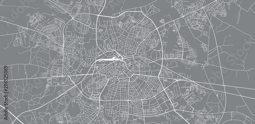 Fotomural Urban vector city map of Odense, Denmark