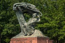 Frederic Chopin Monument In Lazienki Park In Warsaw, Poland
