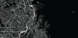 Mapa miasta miejskiego wektor Kopenhaga, Dania
