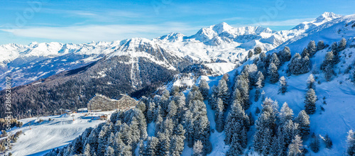 La Plagne from above in the french Alps Fototapet
