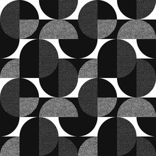 Black And White Geometric Mode...