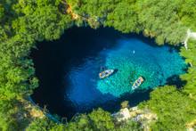 Famous Melissani Lake On Kefal...