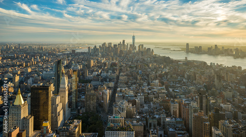 Fotografie, Tablou  Midtown and Lower Manhattan from the bird´s eye view
