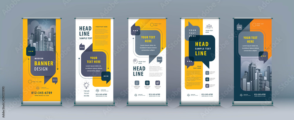 Fototapeta Business Roll Up Set. Standee Design. Banner Template