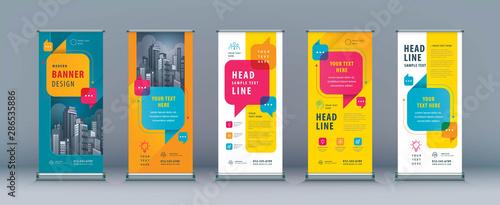 Fotografía  Business Roll Up Set. Standee Design. Banner Template