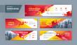 Abstract banner design web template Set, Horizontal header web banner