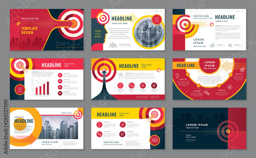 Photo  Abstract Presentation Templates Design Set, Infographic elements, Abstract Arrow