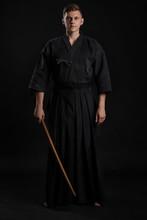 Kendo Guru Wearing In A Tradit...